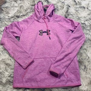 Under Armour Cold Gear Hoodie Small Purple & Camo